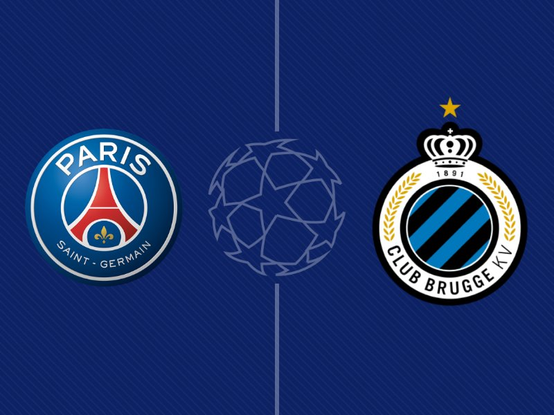 Le Paris SG domine le Club Bruges