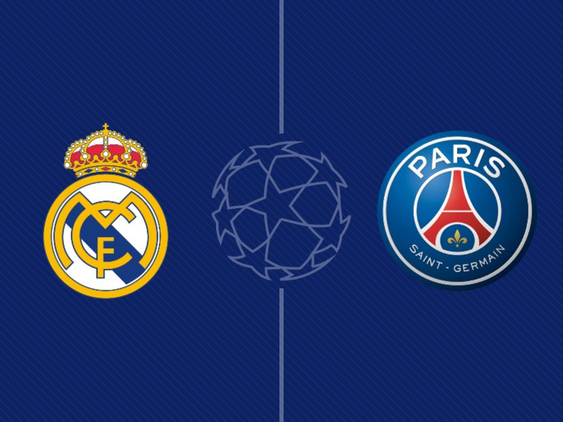 Le Real Madrid et le Paris SG dos à dos