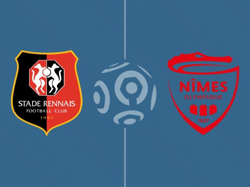 Rennes s'impose sur le fil face à Nîmes