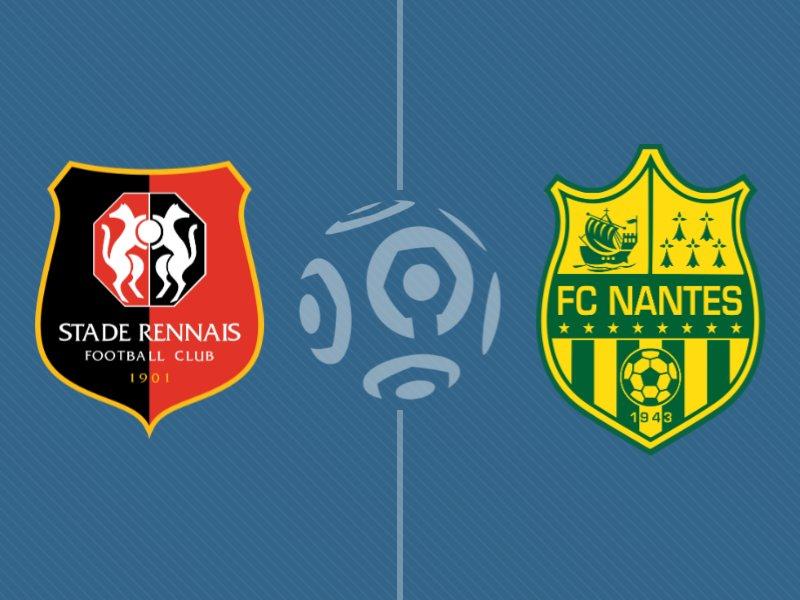 Rennes s'impose sur le fil face à Nantes